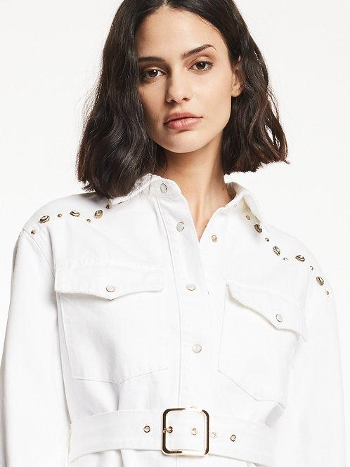 Veste en coton avec clous Gaudi