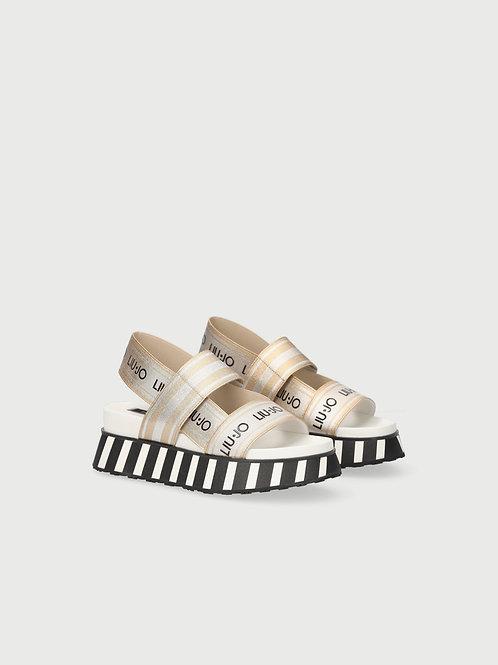 Sandales à plateforme avec logo LIUJO