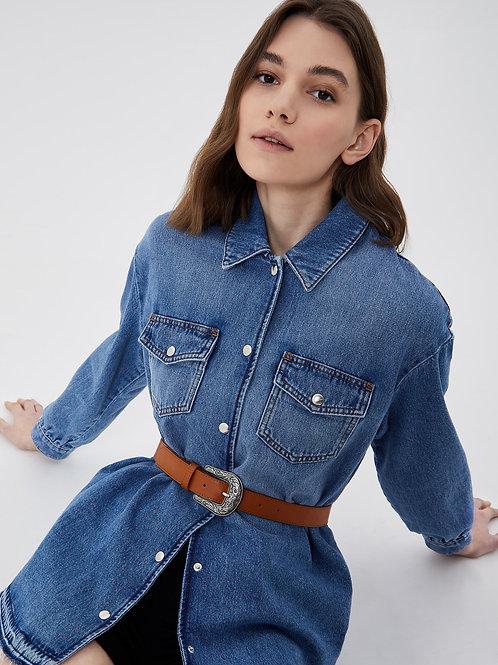 Veste en jeans avec ceinture Liujo