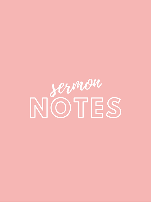Sermon Note Taker