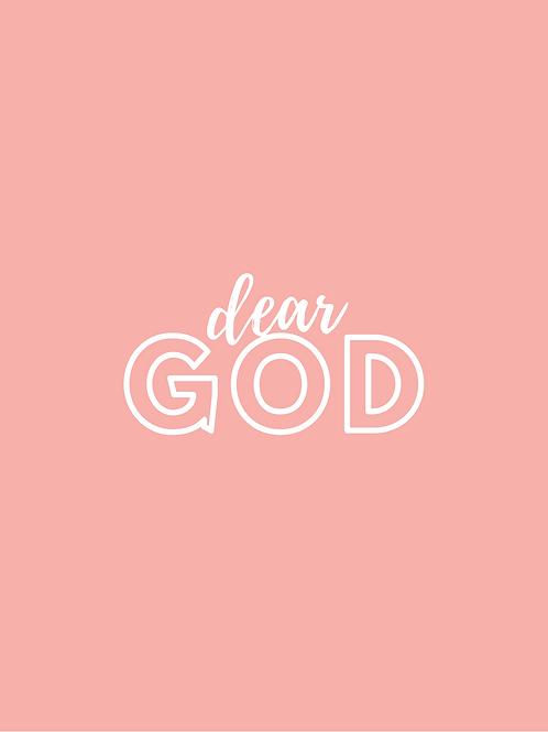 Dear God Prayer Journal (Blank Inside)