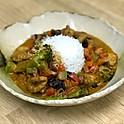 Curry de pui cu legume, lapte de nuca de cocos și orez basmati, 350gr
