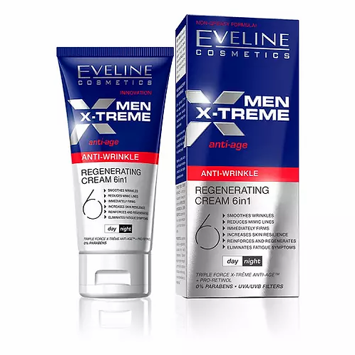 Eveline Men X-Treme – Creme Anti-Age Regeneradora 6 Em 1 50ml - lindecosmetics.com
