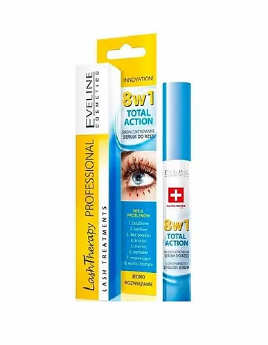Eveline Lash Therapy Concentrated Eyelash Sérum 8 In 1 10ml - lindecosmetics.com