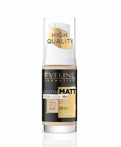 Eveline Smooth Matt Foundantion Pastel 30ml - Base Cor Pastel - lindecosmetics.com
