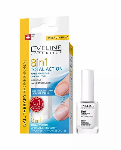 Eveline Spa Nail Total Action 8 In 1 12ml - lindecosmetics.com