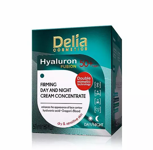 Delia Hyaluron Fusion 50+ Anti Rugas 50ml - lindecosmetics.com