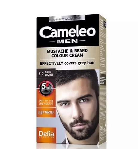 Delia Cameleo Men Color Cream Bigode & Barba 3.0 - lindecosmetics.com