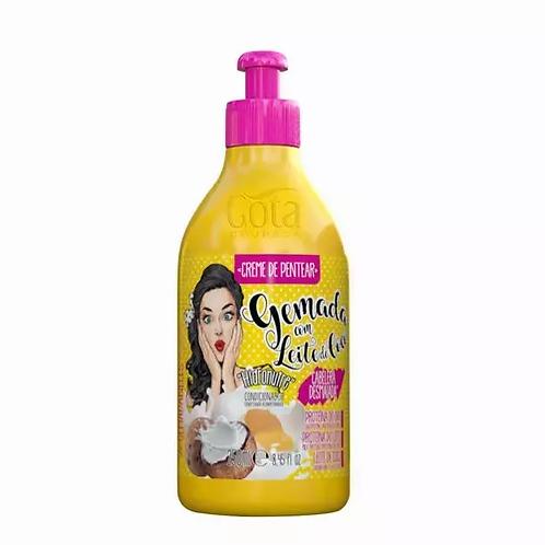 Gota Dourada Gemada Com Leite De Coco Creme Pentear 250ml - lindecosmetics.com