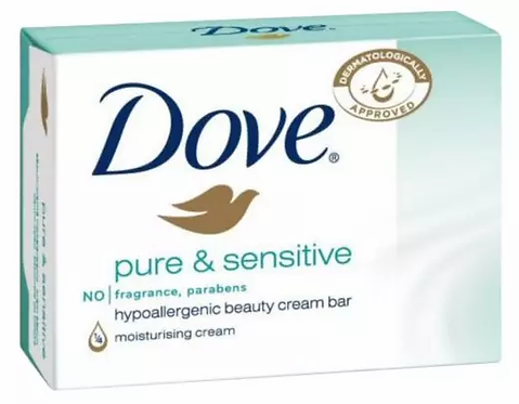 Dove Pure & Sensitive Sabonete 100g-lindecosmetics