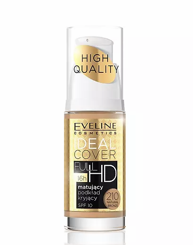 Eveline Ideal Cover Full Hd Matt Nº 210 Natural Bronze 30ml - lindecosmetics.com