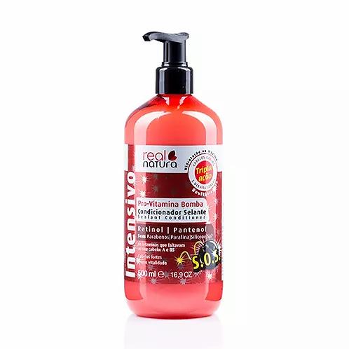 Real Natura Condicionador Sem Sal Pro-Vitamina Bomba 500ml - lindecosmetics.com