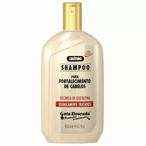 Gota Dourada Shampoo Fortalecimento Recarga de Queratina 430ml - lindecosmetics.com