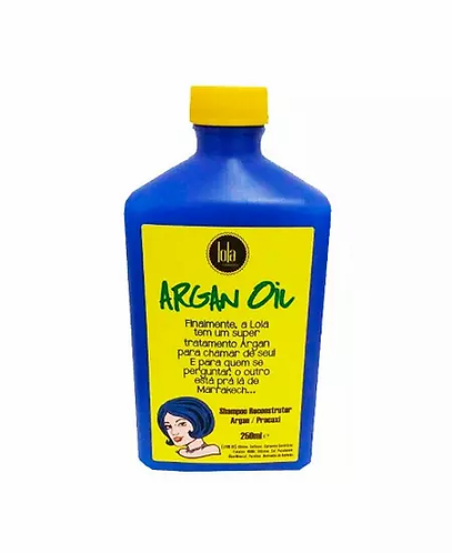 Lola Argan Oil - Shampoo Reconstrutor Argan Pracaxi 250ml - lindecosmetics.com