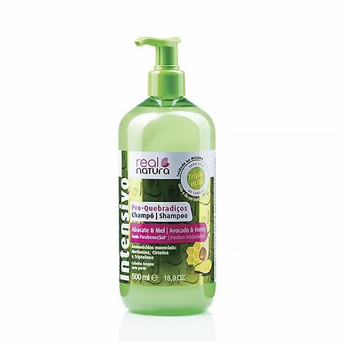 Real Natura Shampoo Sem Sal Pro-Quebradiços Abacate E Mel 500ml - lindecosmetics.com