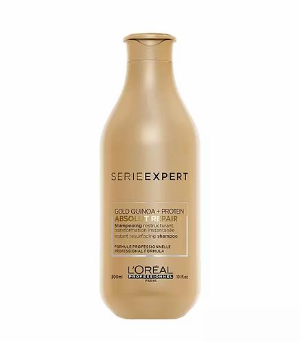 L'Oréal Série Expert Absolut Repair Lipidium Gold Quinoa Shampoo 300ml - lindecosmetics.com