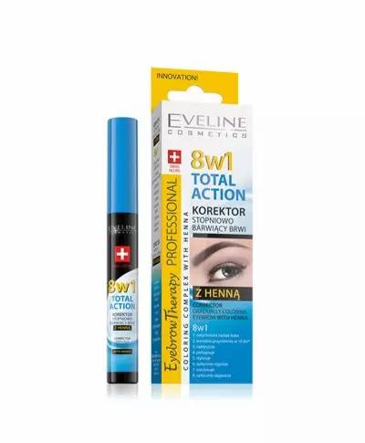 Eveline Eyebrow Th. Corrector With Henna 8 In 1 10ml - lindecosmetics.com