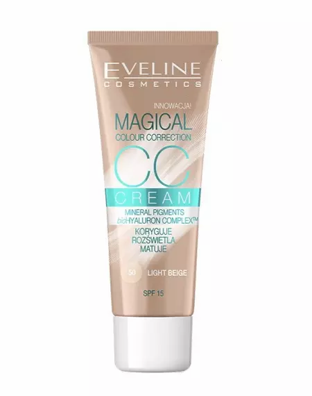 Eveline Cc Cream Magical Colour Correction Nº 50 30ml - lindecosmetics.com