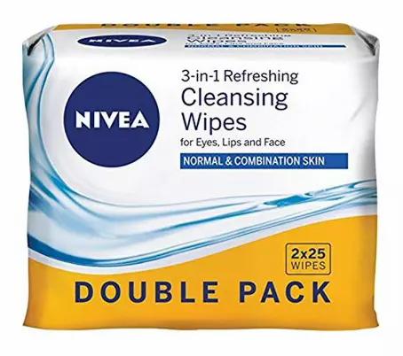 Nivea Pele Normal Toalhitas Double Pack 2x25 Und