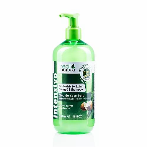 Real Natura Shampoo Sem Sal Pro-Nutrição Extra Coco 500ml - lindecosmetics.com