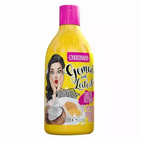 Gota Dourada Gemada Com Leite De Coco Condicionador 400ml - lindecosmetics.com