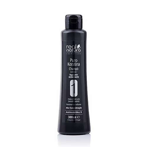 Real Natura Shampoo Sem Sal Puro Keratina 300ml - lindecosmetics.com