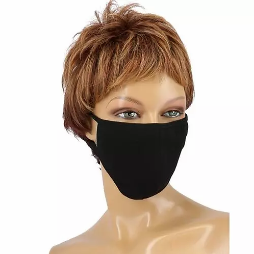 Máscara de Proteção em Texido Preto - lindecosmetics.com