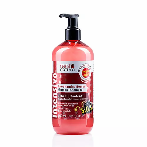 Real Natura Shampoo Sem Sal Pro-Vitamina Bomba 500ml - lindecosmetics.com