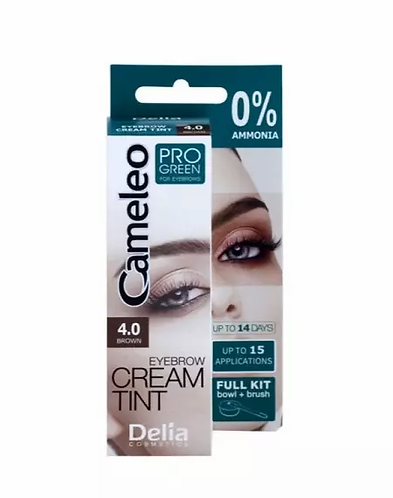 Delia Cameleo Pro Green Color Cream Eyebrows Cor 4.0 - lindecosmetics.com
