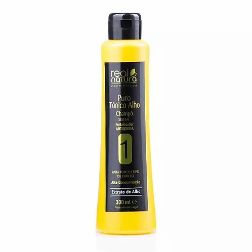Real Natura Shampoo Sem Sal Puro Alho 300ml - lindecosmetics.com