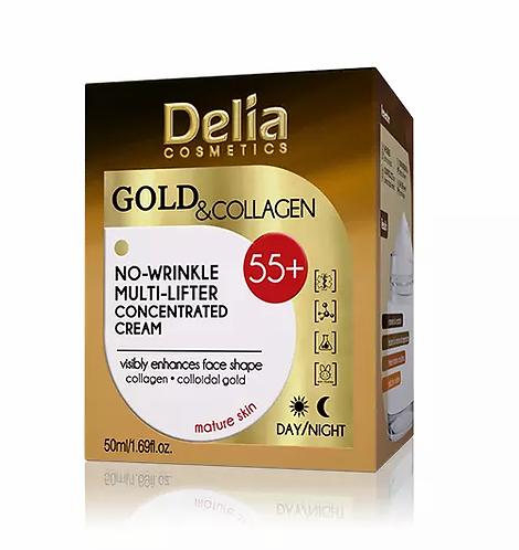 Delia Creme Gold & Collagen 55+ Multi-Booster 50ml - lindecosmetics.com