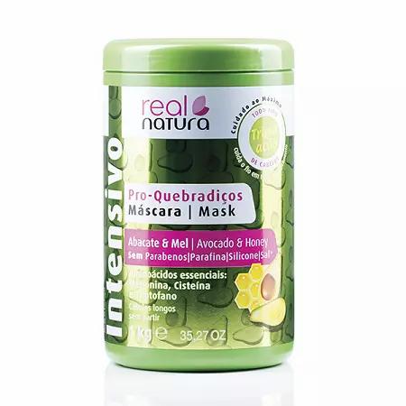 Real Natura Máscara Sem Sal Quebradiços Abacate E Mel 1kg - lindecosmetics.com