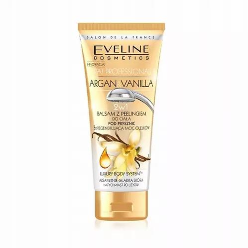 Eveline Spa Argan & Vanilla In Shower Body Lotion + Peeling 200ml - lindecosmetics.com