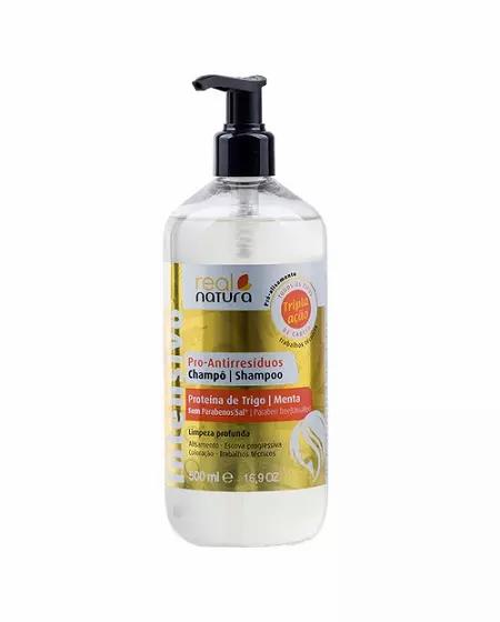Real Natura Shampoo Sem Sal Pro-Antirresíduos 500ml - lindecosmetics.com