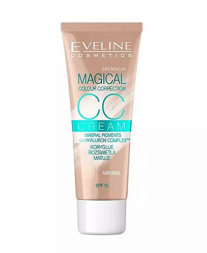 Eveline Cc Cream Magical Colour Correction Nº 51 30ml - lindecosmetics.com