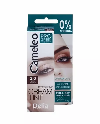 Delia Cameleo Pro Green Color Cream Eyebrows Cor 3.0 - lindecosmetics.com