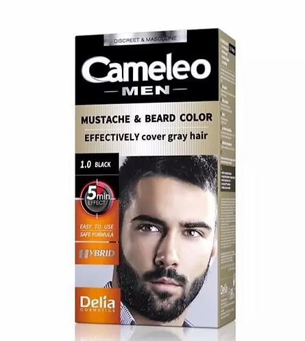 Delia Cameleo Men Color Cream Bigode & Barba 1.0 - lindecosmetics.com