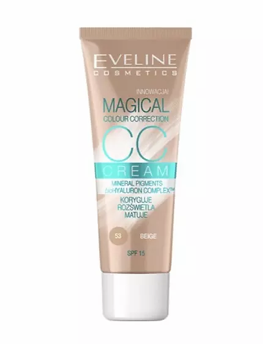 Eveline Cc Cream Magical Colour Correction Nº53 30ml - lindecosmetics.com