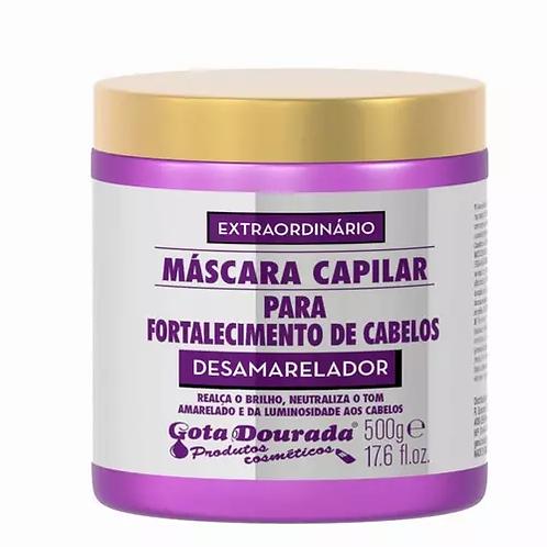 Gota Dourada Máscara Fortalecimento Desamarelador 500g - lindecosmetics.com