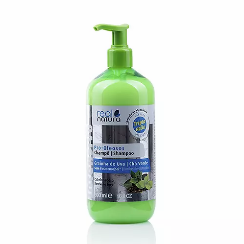 Real Natura Shampoo Sem Sal Pro-Oleosos 500ml - lindecosmetics.com