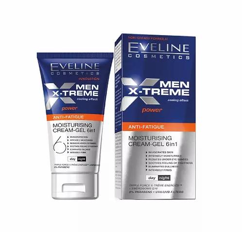 Eveline Men X-Treme Creme Hidratante 6 Em 1 Efeito Refrescante 50ml - lindecosmetics.com