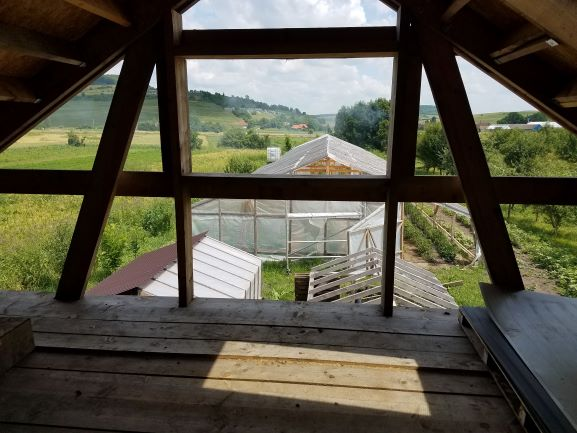 greenhouses from second floor barn