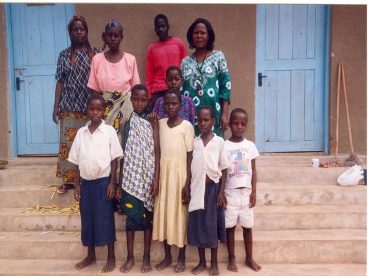 March 2006: Teresa in the middle.   First Orphans to arrive DLBCH