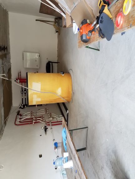 solar hot water tank and water and gas p