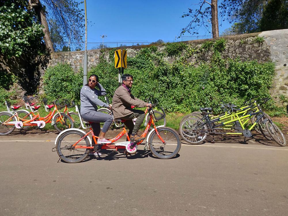dual cycle ride around lake,kodaikanal