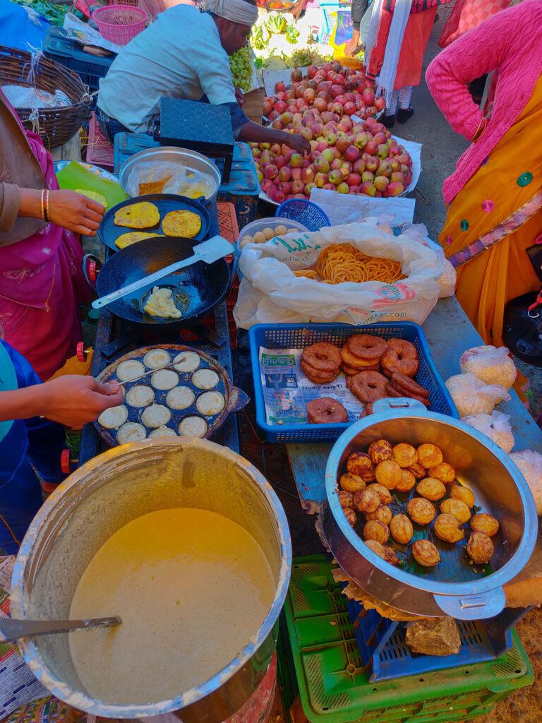 local delicacies kuzhipaniyaram, sunday market
