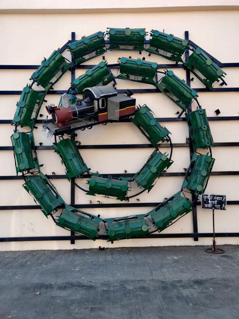 art installation at Vadodara Railway station