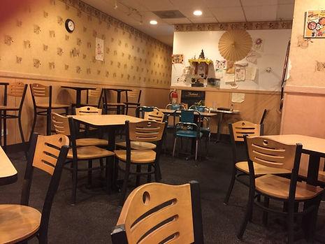 Inside Dancing Noodle Dining Area