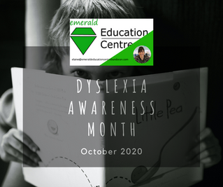 OCTOBER - It's Dyslexia Awareness Month