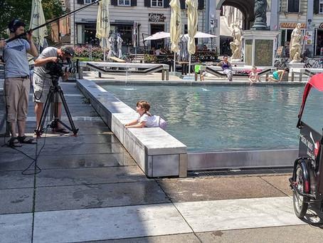 Drehtage: Mit dem Lastenrad durch Graz